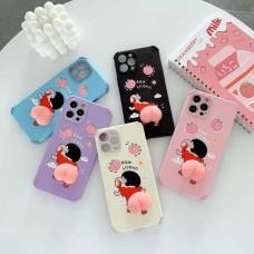 "Cute 3D Elastic Squishy Butt Decompress Case For iPhone 12Pro Max 6.7"" [Purple]"