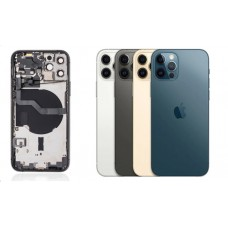 iPhone 12 Pro Housing with Back Glass cover, Charging Port and Power Volume Flex Cable [Pacific Blue][High Quality]