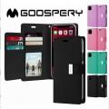 Mercury Goospery Rich Diary Case for Samsung S21 G991 [Black/Black]