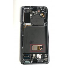 Samsung Galaxy S21 OLED and Touch Screen Assembly with frame [Phantom White]