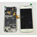 Samsung Galaxy S4 Mini i9195T LCD and Touch Screen Assembly with Frame [White] For Telstra Phone