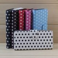 POLKA DOT SPOTS FLIP PU LEATHER WALLET CASE For iPhone 5/5S/SE [Black]