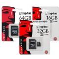 Kingston SDCS2/32GB   Kingston 32GB microSDHC Canvas Select Plus 100MB/s Read A1 Class10 UHS-I Memory Card + Adapter (SDCS2/32GB)