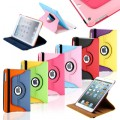 360 Color Leaher Case For Ipad 2/3/4 [Red]