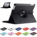 """360 Color Leather Case For iPad Air / iPad New 9.7"""" [Black]"""