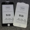 5D Full Screen Gorilla Tempered Glass Screen Protector Film For iPhone 7/8 [Black]