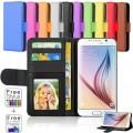 Leather Wallet Case For Samsung Galaxy S7 Edge [Dark Blue]