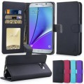 Flip Leather Case For Samsung Galaxy Note 5 [Black]