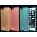 Air Bag Cushion DropProof Crystal Clear TPU Soft Rubber Case Cover For iPhone 6/6s/7/8 Plus [Pink]