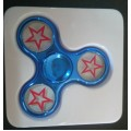Electroplated Fidget Spinner Star [Blue]