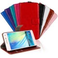 Leather Wallet Case For Samsung Galaxy A5 [Red]