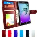 Leather Wallet Case For Samsung Galaxy A7 [Dark Blue]