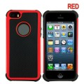 Heavy Duty Tough Case for iPhone 5S/5/SE [Red]
