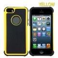 Heavy Duty Tough Case for iPhone 5S/5/SE [Yellow]