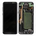 Samsung Galaxy S8 Plus OLED and Touch Screen Assembly With Frame [Black]