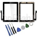 iPad 3 Touch Screen with Home Button and Adhesive Tape attached [Black] [Original]