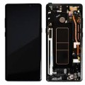 Samsung Galaxy Note 8 OLED and Touch Screen Assembly with frame [Midnight Black]