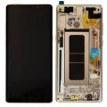 Samsung Galaxy Note 8 LCD and Touch Screen Assembly with frame [Maple Gold]