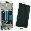 OnePlus 5 LCD and Touch Screen with Frame Assembly [White]