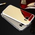 Slim Metal Mirror Case for Samsung S7 [Black Silver]