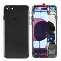 iPhone 8 Housing with Back Glass cover, Charging Port and Power Volume Flex Cable [Black][Aftermarket]