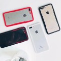 TPU Bumper Frame With Clear Hard Back Case for iPhone6/6S [Black-Red]