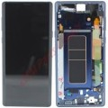 Samsung Galaxy Note 9 OLED and Touch Screen Assembly with frame [Ocean Blue]