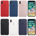 Luxury Silicone Cover Ultra-Thin Back Case For iPhone XR [Dark Blue]
