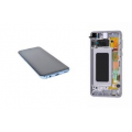 Samsung S10  OLED and Touch Screen Assembly with frame [Blue]