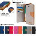 [Special] Mercury Goospery Canvas Diary Case for Samsung Galax A8 A530 [Navy / Camel]