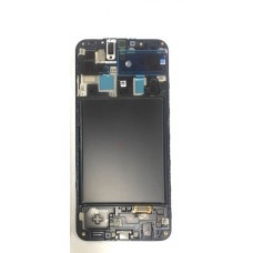 Samsung A20 LCD and Touch Screen Assembly with frame [Black]