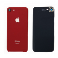 iPhone 8 Back Cover Glass with Camera Lens [Red][High Quality]