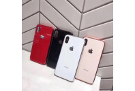 Luxurious shockproof TPU bumper toughened glass back case for iPhone X/XS  (1)